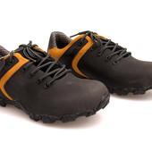 Натуральная кожа - мужские ботинки Польша