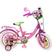 Велосипед Лунтик 12  дюймов детский двухколесный с белыми покрышками