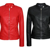 Женская  демисезонная кожаная куртка (эко-кожа)