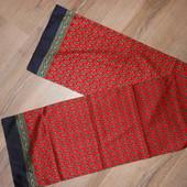Италия, Красный мужской шарф 140*30 см