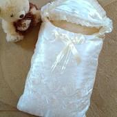 Конверт +одеяло 2в1  для новорожденого на выписку на овчине!!!