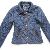 Стеганная синяя куртка 9-10 лет рост 140-146см,
