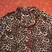 Флисовая женская пижама размер S, б/у. Хорошее состояние, без пятен. Штаны - длина 97 см, шаговый 73