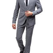 Мужской серий костюм (тройка)