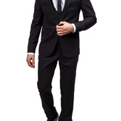 Мужской черний костюм тройка