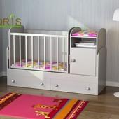 Детская кроватка-трансформер Орис Марика. Бесплатная доставка по Киеву, Бесплатная сборка