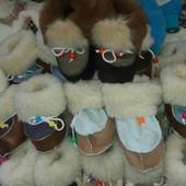 Детские зимние пинетки-валенки девочкам и мальчикам от полугода до 46 размера