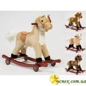 Лошадка качалка на колесиках 2 в 1 Игривая Пони 013119