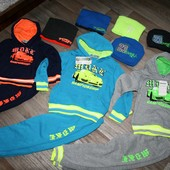 Теплые спорт костюмы 1-6 лет