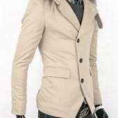 Стильная куртка - пиджак - тренч с капюшоном бежевый  Производства Украина