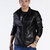 Мужская куртка из кожзама. Для стильного парня!!!