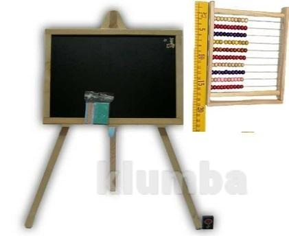 Доставка доска для рисования на 3- ноге 48*35 односторонняя с часами или счетами фото №1