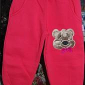 Теплые спортивные штаны флис мишка Винни Пух на 2-3 года