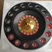 Алкорулетка, настольная алко игра Рулетка, на 16рюмок, отличный подарок другу