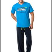 Мужская пижама комплект для дома хлопок Польша футболка-штаны