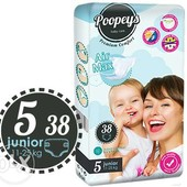 Памперсы/подгузники Poopeys 5 Premium Comfort 11-25кг- 38шт! Германия!