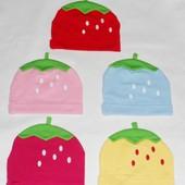 Новые клубнички шапочка трикотаж!все кроме красной и малиновой