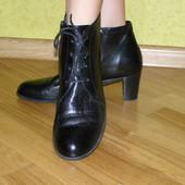 Wolky Фирменные демисезонные ботинки из натуральной кожи. Разм. 41.