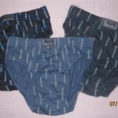 Лот-3пари! плавки мужские или на подростка,100% коттон,размер L