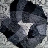 Палантин серо-черный