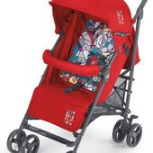 Прогулочная коляска-трость Cam Flip красный с цветным матрасиком  847/24
