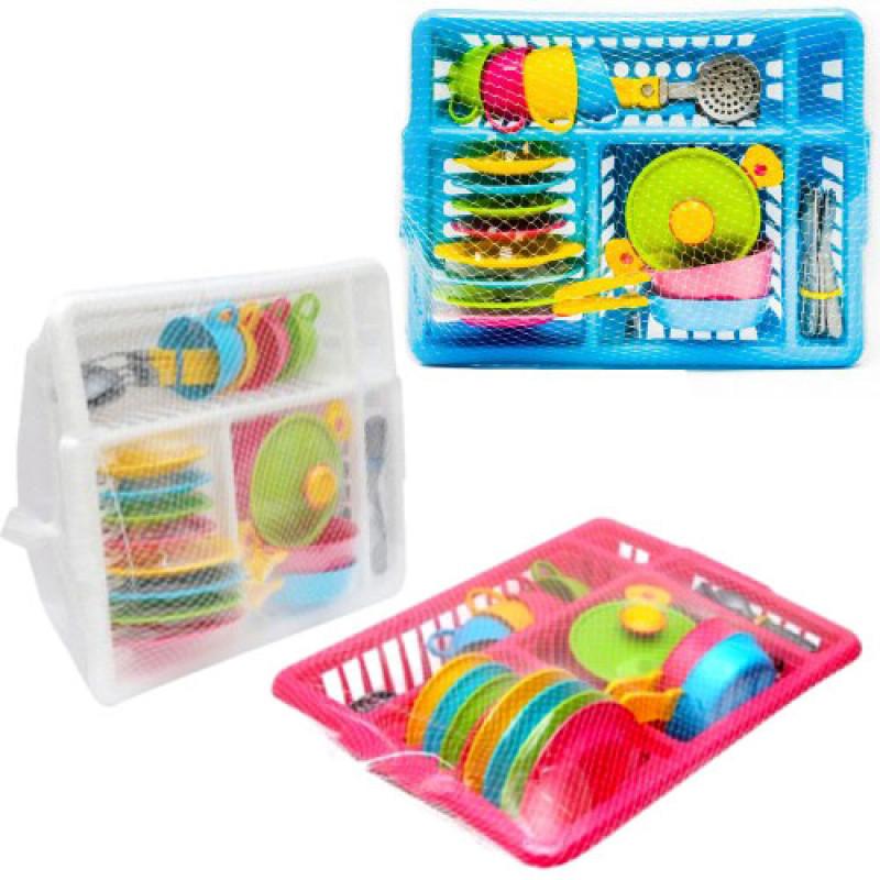 Кухонный набор 5 посудка в лотке технок 3282 игрушечная посуда фото №1