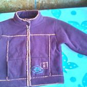 Кофта- куртка ( меховушка)  Okaidi  унисекс 128 -134 ( 7 -8 лет)