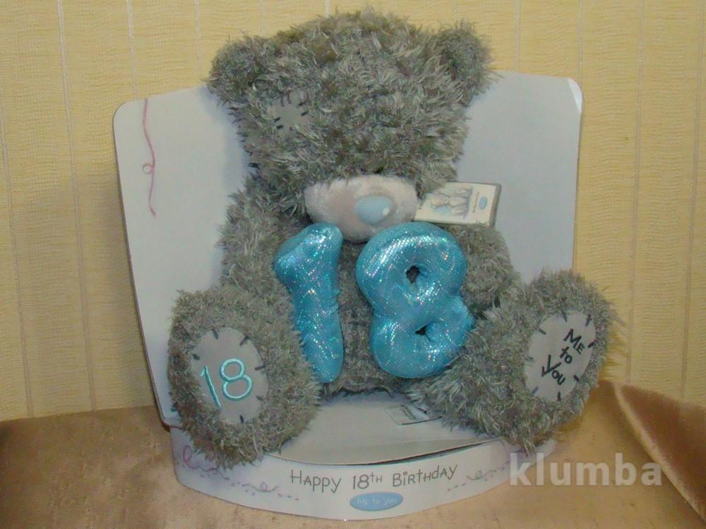 Игрушка мягкая Мишка Teddy Happy Birthday 21 см. фото №1