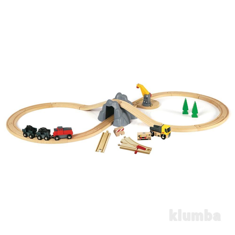Деревянная железная дорога brio 33167 шахта. фото №1