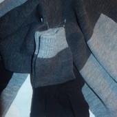 Новвый  фирменный мужской набор шарф+перчатки