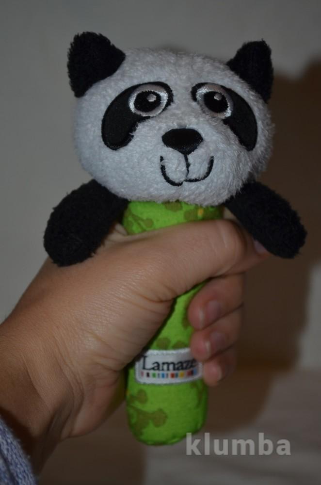 Lamaze ламазе фирменная погремушка пищалка панда фото №1