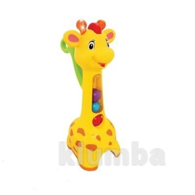 Игрушка-каталка - Аккуратный жираф (свет, звук) фото №1