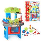 Детская Кухня звук, свет. с посудкой. Игровой набор розовый и голубой