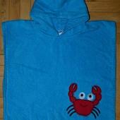 Фирменное Детское полотенце пончо с крабиком