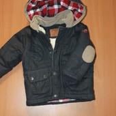 крутая теплая  куртка на мальчика 18-24 мес