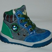 Солнце арт.PT6707-В green-gray-blue Демисезонные ботинки для мальчиков.