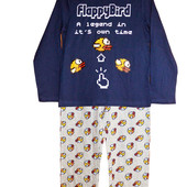 "Пижамы хлопок ""flappy bird"" размеры 7-8 лет, бренд ""Tesco (F&F)"" (Англия)"