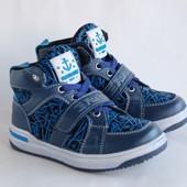 Демисезонные ботинки KLF синие fashion