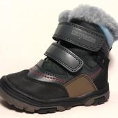 кожаные ботинки зимние Шалунишка