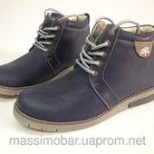 мужские зимние ботинки кожа цвета Код: tin
