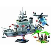Конструктор Brick 820 корабль, 614 деталей Фрегат