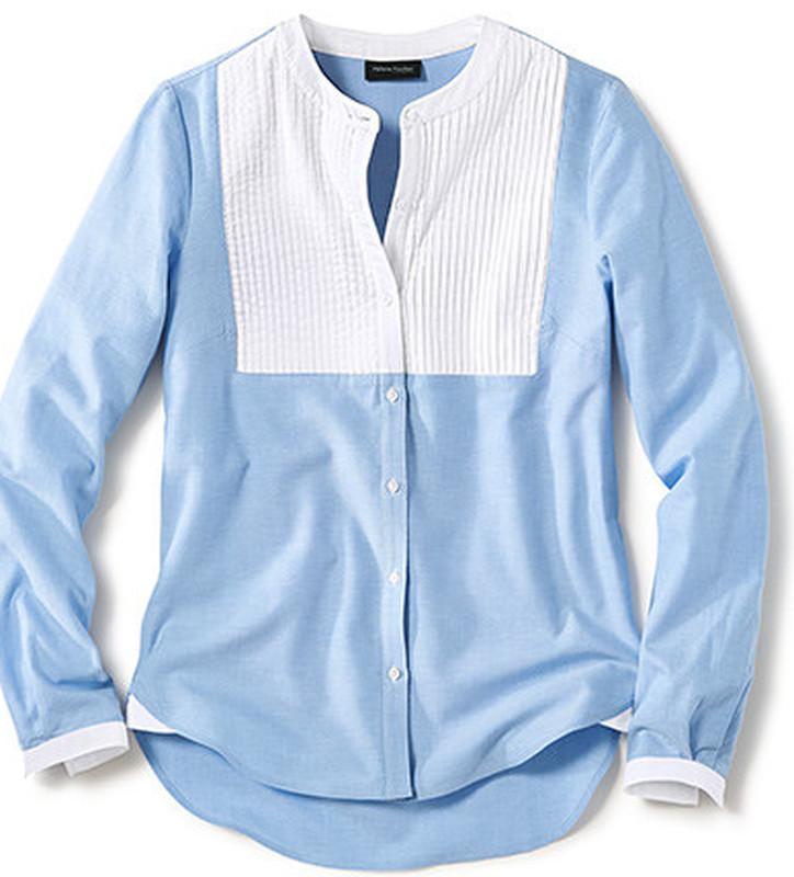 Элегантная блузка из хлопка шамбре тсм чибо. 40, 42 евро фото №1