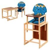 Виваст Бегемотик MV 010 стульчик для кормления трансформер Vivast столик и стульчик