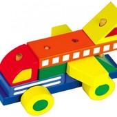 Детская деревянная игрушка-конструктор автомобиль Руди
