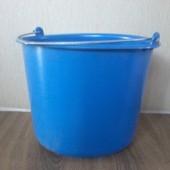 Ведро цветное пластиковое 12л. с мерной шкалой