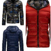 Мужская  зимняя двухсторонняя куртка