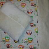 Одеяло + подушка зимние меховые ( набивная шерсть 50 %)