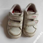 Кожаные кроссовки ClarKs р.20, стелька 12,5 см