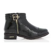 Ботинки под кожу змеи с лаковым носком