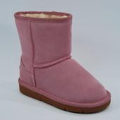 Детские розовые угги размеры 31-36